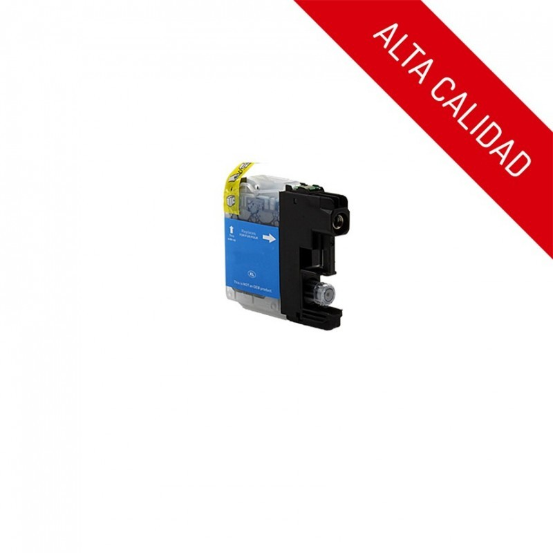 ALTA CALIDAD / BROTHER LC121XL / LC123XL V3 / COLOR CYAN / CARTUCHO DE TINTA COMPATIBLE