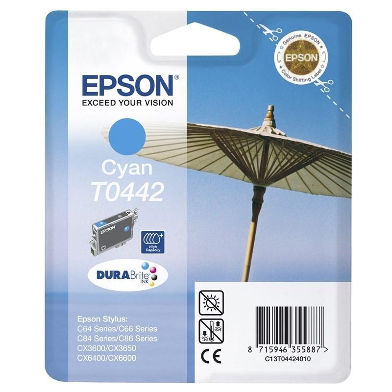 EPSON T0442 / COLOR CYAN / CARTUCHO DE TINTA ORIGINAL / C13T04424010