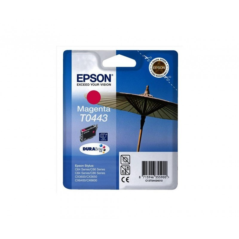EPSON T0443 / COLOR MAGENTA / CARTUCHO DE TINTA ORIGINAL / C13T04434010