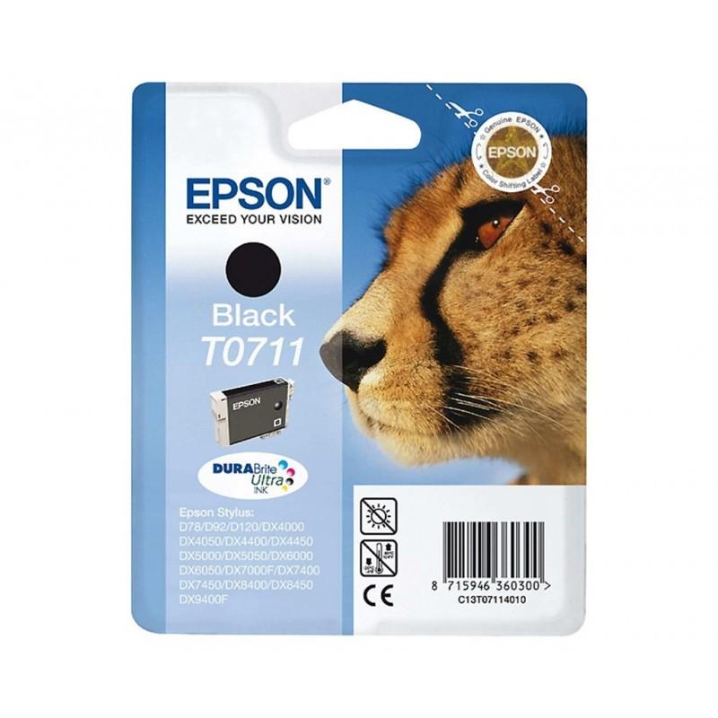EPSON T0711 / COLOR NEGRO / CARTUCHO DE TINTA ORIGINAL / C13T07114011