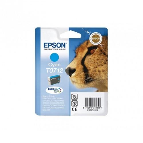 EPSON T0712 / COLOR CYAN / CARTUCHO DE TINTA ORIGINAL / C13T07124011