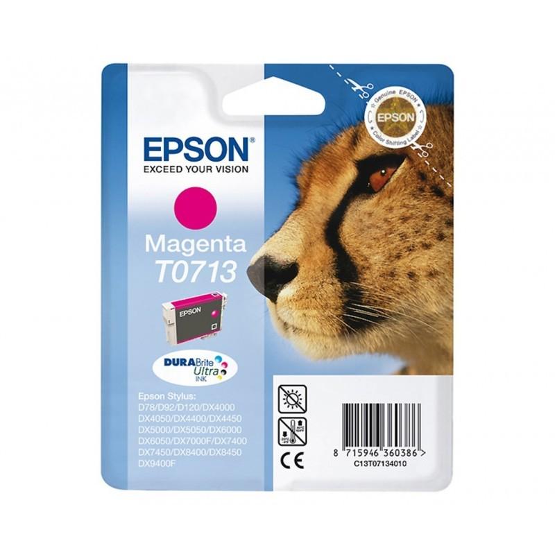 EPSON T0713 / COLOR MAGENTA / CARTUCHO DE TINTA ORIGINAL / C13T07134011