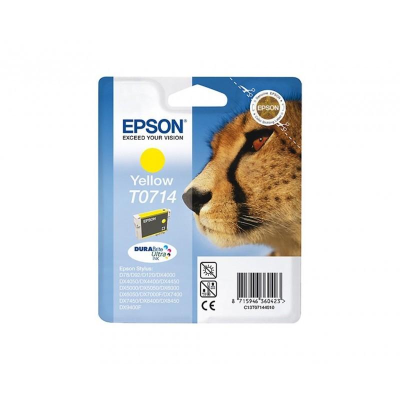 EPSON T0714 / COLORAMARILLO / CARTUCHO DE TINTA ORIGINAL / C13T07144011