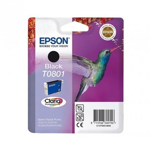 EPSON T0801 / COLOR NEGRO / CARTUCHO DE TINTA ORIGINAL / C13T08014011