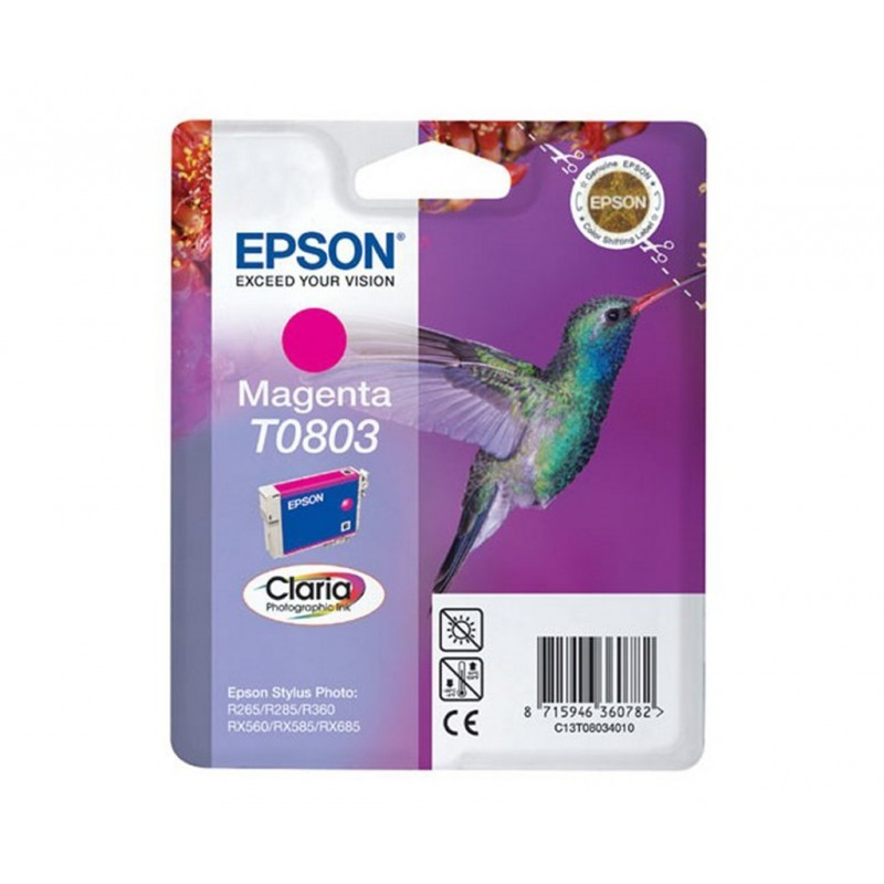 EPSON T0803 / COLOR MAGENTA / CARTUCHO DE TINTA ORIGINAL / C13T08034011