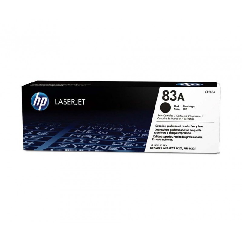 HP CF283A / COLOR NEGRO / TÓNER ORIGINAL / 83A
