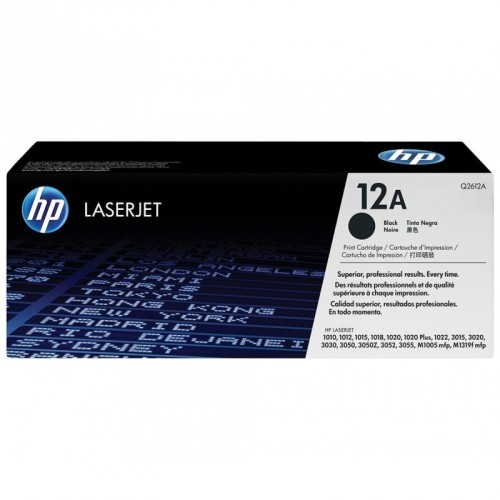 HP Q2612A / COLOR NEGRO / TÓNER ORIGINAL / 12A