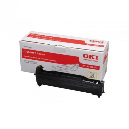 OKI C3520 / C3530 / MC350 / MC360 / COLOR AMARILLO / UNIDAD DE IMAGEN ORIGINAL / 43460221