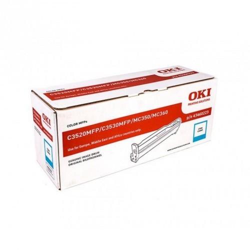 OKI C3520 / C3530 / MC350 / MC360 / COLOR CYAN / UNIDAD DE IMAGEN ORIGINAL / 43460223