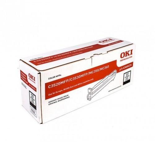 OKI C3520 / C3530 / MC350 / MC360 / COLOR NEGRO / UNIDAD DE IMAGEN ORIGINAL / 43460224