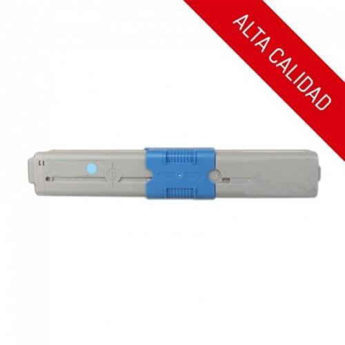 ALTA CALIDAD / OKI C310 / C510 / MC351 / MC361 / COLOR CYAN / TÓNER COMPATIBLE / 44469706