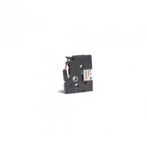 BROTHER TZE-222 9mm / COLOR ROJO / BLANCO CINTA ROTULADORA COMPATIBLE / TZ-222