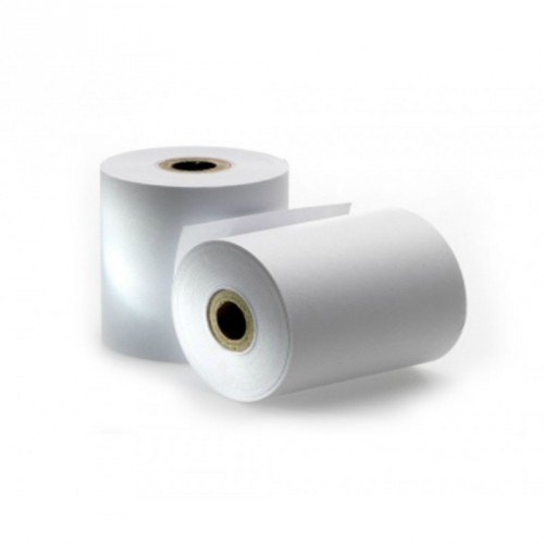 Rollo de Papel Térmico / 60 X 80 mm / Color Blanco / 56 gramos / 10 Rollos