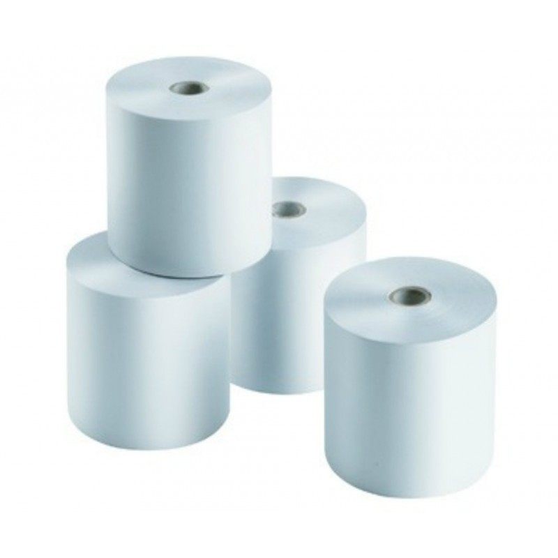 Rollo de Papel Térmico / 75 X 55 mm / Color Blanco / 56 gramos / 10 Rollos