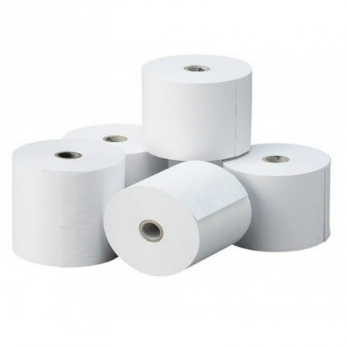 Rollo de Papel Térmico / 80 X 80 mm / Color Blanco / 56 gramos / 8 Rollos