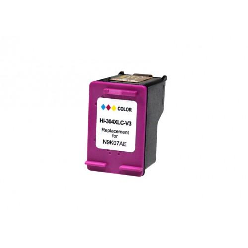 HP 304XL V3 / COLOR TRICOLOR / CARTUCHO DE TINTA REMANUFACTURADO / N9K07AE / N9K05AE