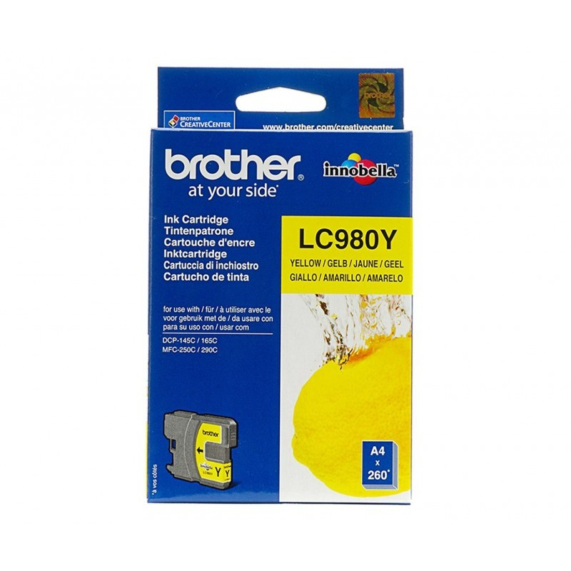 BROTHER LC980 / COLORAMARILLO / CARTUCHO DE TINTA ORIGINAL